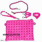 Neonpink bag with studs