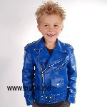 Kunstlederjacke Johnny, in blau für Kids (vegan)