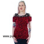 Leo Lace Top, rot