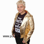 Goldene Ladies Lederjacke de luxe