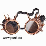 Steam Punk Goggles mit Stacheln, bronze