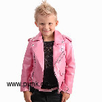 Kunstlederjacke Johnny, in rosa für Kids (vegan)