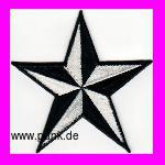 Nautical star patch white