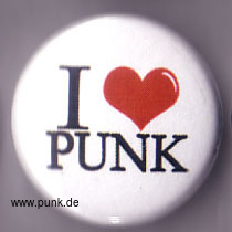 : I LOVE PUNK Button