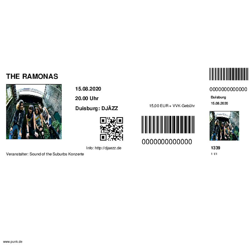 : HardTicket THE RAMONAS