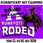 HardTicket Kombi-Ticket inkl. Camping Rodeo 2020